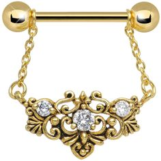 Product Details This gold plated nipple barbell is a marvelous addition to any body jewelry collection. Body Piercings, Piercing Tattoo, Tragus, Septum, Jewelry Art, Jewelry Accessories, Different Ear Piercings, Nipple Rings, Nose Rings