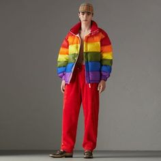 A down-filled puffer jacket in a kaleidoscope of colour and lined in soft fleece.