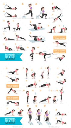 Woman Fitness Aerobic and Exercises - PSD, JPG Image, Vector EPS, AI Illustrator