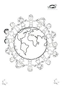 Kinder dieser Welt  kita  Ausmalbilder kinder Kinder dieser welt und Kindertag