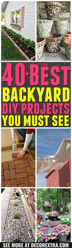 Garden Ideas and DIY Backyard Projects! Today we present you one collection of 40+ The BEST Garden Ideas and DIY Backyard Projects offers inspiring backyard ideas. These are amazing projects that you can do at home easily for your garden.