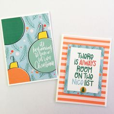Christmas cards by Tracey Holdyk (Comfort and Joy kit designed by Brandi Kincaid)