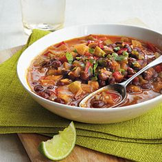 Caribbean Black Bean Soup | MyRecipes.com