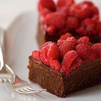 Chocolate-Raspberry Truffle Bars