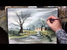 painting demonstration by Bill Lupton - The Lost Cottage - YouTube