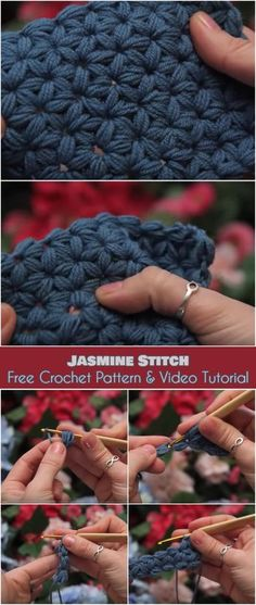 Jasmine Stitch [Free Crochet Pattern and Video Tutorial]