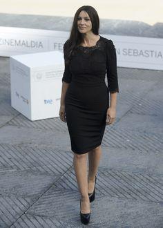 Monica Bellucci en San Sebastián, con vestido de Dolce & Gabbana