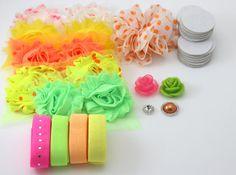 Neon Headband Kit DIY Headband Kit Baby by wholesaleflowers