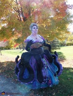 Ursula The Sea Witch Halloween Costume Contest at CostumeWorks com is part of home Made Costumes - Jennifer Myself is wearing the costume and for the most part it is home made I came across a few inspirations online One of which was entered in one of your Halloween Costume Contest, Halloween Cosplay, Costume Ideas, Little Mermaid Costumes, The Little Mermaid, Disney Cosplay, Disney Costumes, Disney Halloween, Halloween Party