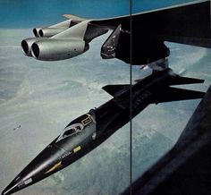 The North American X-15 was a rocket-powered aircraft operated by the United States Air Force and NASA as part of the X-plane series of experimental aircraft.  wikipedia #aviationcraft