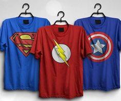 Buy Pack Of 3 – Flash, Superman & Captain America at Deal Today, Captain America, Superman, Mens Tops, T Shirt, Fashion, Supreme T Shirt, Moda, Tee Shirt