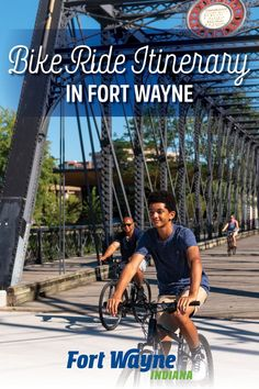 It's summer! Grab your bike and a helmet and pedal your way around town on any of the dozens of trails that crisscross Fort Wayne, Indiana. Whichever path you choose, you're sure to find many amazing sights and multiple delicious restaurants to stop at. Fort Wayne Indiana, Trail, Bike, Outdoor Adventures, Park, Summer, Restaurants, Helmet, Amazing
