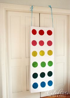 punch box party game idea at Celebrate the Big and Small and couldn't help but think this might be the new pinata for kids parties! Colorful, fun to make, and even more fun to punch and find candy when you answer a trivia question right