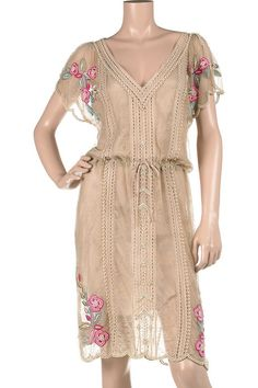 Lace pearl beaded dress