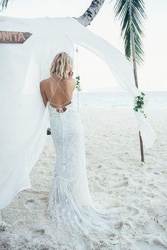 Spell Designs Bridal Casablanca Lace Halter Gown