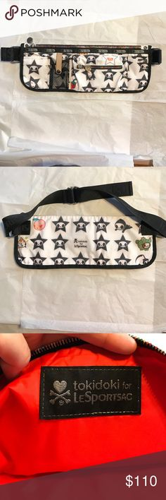 """tokidoki lesportsac canguro fannypack crossbody tokidoki lesportsac canguro fannypack crossbody. This can be used as a fanny pack or as a crossbody. Very functional and holds a ton of things. No stains - very clean. End to end strap 45"""". Adjustable living!  LeSportsac Bags Crossbody Bags"""