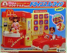 1986 Licca Takara McDonalds Drive thru Through Playset Japan Barbie Sized in Box   eBay
