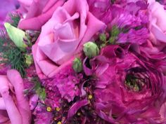 mixed pink flower bouquet