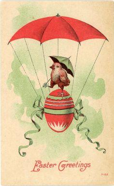 """Vintage Postcard """"Easter Greetings"""""""