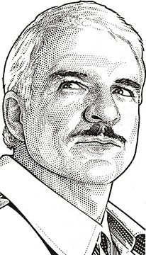 Steve Martin as Inspector Clouseau by Randy Glass, Wall Street Journal Hedcuts Portrait Sketches, Portrait Illustration, Pencil Portrait, Portrait Art, Portraits, Male Face Drawing, Street Art, Stippling Art, Celebrity Drawings