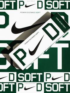 A complete rebrand of Nike's best selling golf ball franchise - Power Distance. Sports Graphic Design, Graphic Design Posters, Graphic Design Illustration, Graphic Design Inspiration, Soft Power, Print Design, Logo Design, Nike Design, Identity Design