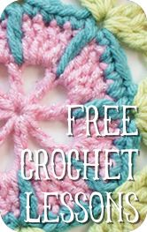 Crotchet school - Learn the basics and how to read patterns (gonna need to go through some of this to make the flower for my mom's ear warmer)...
