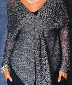 Crochet tunic PATTERN, crochet party tunic with high cuffs (not mittens). - favoritepatterns.com