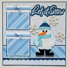 BLJ Graves Studio: Let It Snow Scrapbook Page