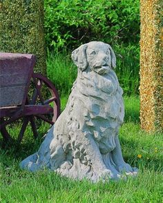 Wonderful Golden Retriever Garden Statue