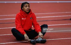Nafissatou Thiam of Belguim looks on, on day one of the 2017 European Athletics Indoor Championships at Kombank Arena on March 3, 2017 in Belgrade, Serbia.