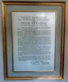 Painted proclamation, Four Courts, Dublin