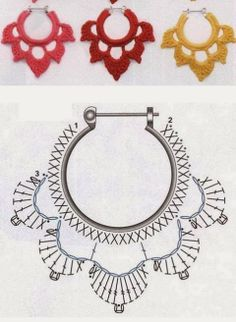 alice brans posted Crochet diagram to make earrings, Spanish site to their -crochet ideas and tips- postboard via the Juxtapost bookmarklet. diagram for crochet earings! more diagrams on site :) … Divinos aros tejidos al crochet. Risultati immagini per Crochet Diy, Thread Crochet, Love Crochet, Crochet Flowers, Beautiful Crochet, Crochet Jewelry Patterns, Crochet Earrings Pattern, Crochet Accessories, Diy Crochet Jewelry