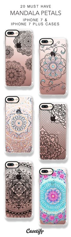 20 Must Have Mandala Petals Protective iPhone 7 Cases and iPhone 7 Plus Cases. More Pattern iPhone case here > https://www.casetify.com/collections/top_100_designs#/?vc=yGIsavD6VK