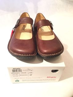 Alegria PAL-682 Paloma Brown Leather Slip On Clogs 37 US 7 7.5 | eBay