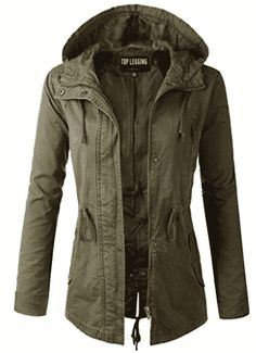 I absolutely LOVE a good green military jacket! TOP LEGGING TL Women's Military Anorak Parka Hoodie Jackets with Drawstring This women's jacket is perfect! Anorak Jacket, Hoodie Jacket, Parka Jackets, Outerwear Jackets, Cargo Jacket, Suit Vest, Utility Jacket, Best Parka, Coats For Women