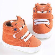 Baby Fox Shoes Girls Boys pattern high canvas shoes Baby Sneaker Anti-slip Soft Sole Toddler baby first walker shoes Toddler Sneakers, Baby Sneakers, Toddler Shoes, Infant Toddler, Canvas Sneakers, Toddler Girl, Baby Boy Shoes, Crib Shoes, Boys Shoes