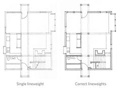Image result for architecture lineweight drawing