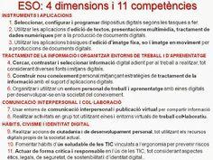 Síntesi de les competències bàsiques a l'àmbit digital (per a Primària i ESO)