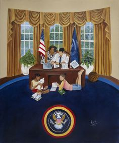 """""""Oval Office"""" by artist Annie Lee"""