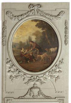 Antique French Louis XVI Painted Trumeau