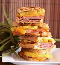 What I remember though is lunch and these beautiful ham, cheese, and pineapple sandwiches the Fiji Sandwich. Fiji Food, Leftover Ham Recipes, Grilled Ham, Great Recipes, Favorite Recipes, Island Food, Soup And Sandwich, Wrap Sandwiches, Food Porn
