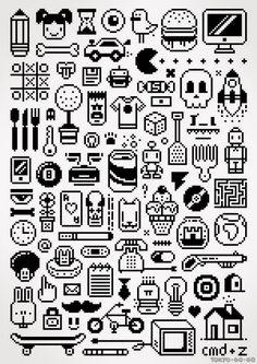 collection of and Pixel-Art images and illustrations, icons Pixel Pattern, Pattern Art, Gatos Cool, Arte 8 Bits, 8 Bit Art, Art Perle, Pixel Art Games, Bead Art, Art Tutorials