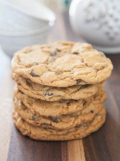 Bourbon Bacon Chocolate Chip Cookies by EclecticRecipes.com #recipe