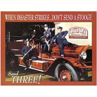 Three Stooges Fire Department Tin Sign #stooges  http://www.retroplanet.com/PROD/20741