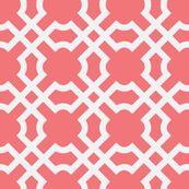pillow fabric - Geo Tile Sunset & White