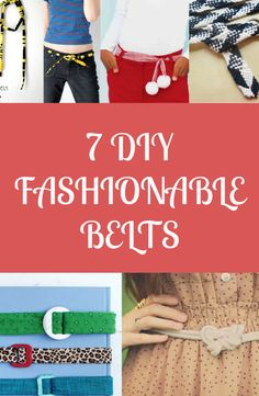 Get stylish and trendy by crafting your own belt!  Create your own fashionable belt with these easy to do belt projects! See tutorials now -----> http://www.discountqueens.com/7-diy-fashionable-belts/