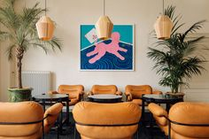 Fosbury & Sons Coworking Offices - Amsterdam | Office Snapshots Co Working, Working Area, Steel Frame Doors, Amsterdam Photos, Old Hospital, Parquet Flooring, Coworking Space, Upholstered Sofa, Contemporary Artwork