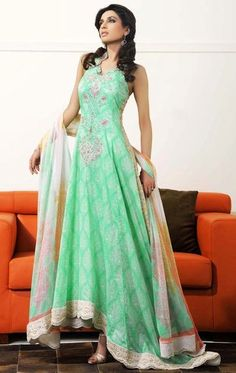 Mint green Anarkali - Outfit #desi #wedding #indian