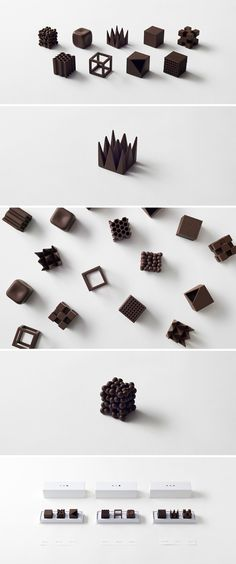 The most beautiful chocolates ever designed? The amazing Chocolatexture by Nendo.