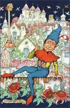 Anton Piecks bekendste creatie: Het Sprookjesbos Anton Pieck, Dutch Painters, Colorful Paintings, Illustration Art, Vintage Illustrations, Vintage Posters, Painting & Drawing, Netherlands, Holland